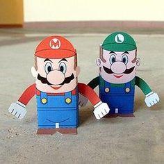 Mario and Luigi Papercraft