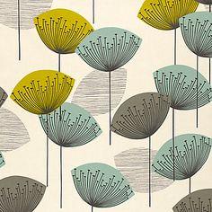 Buy Sanderson Dandelion Clocks PVC Cut Length Tablecloth, Aqua online at JohnLewis.com - John Lewis