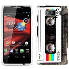Motorola Droid Razr Maxx HD Retro FE90 Tape Cassette Case with Screen Protector and Cleaning Cloth:Amazon:Cell Phones & Accessories