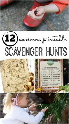 12 Awesome Free Printable Scavenger Hunts for Kids