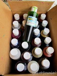 Ways to use liquid watercolors
