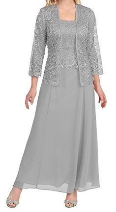 Uryouthstyle Mother of The Bride Dresses Lace Chiffon Wit...