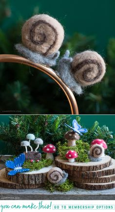 #felted #woodland at www.LiaGriffith.com