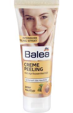 Strahlend frisch und spürbar glatt: Balea Creme-Peeling verfeinert das Hautbild.##Feine mineralische Peelingkörner aus Lavastein entfernen abgestorbene...