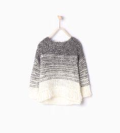 ZARA - KIDS - Fringed faux fur knit sweater
