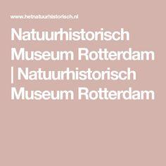 Natuurhistorisch Museum Rotterdam | Natuurhistorisch Museum Rotterdam
