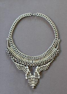 d.i.y vintage statement necklace / honestly wtf...