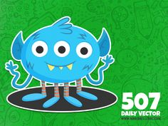 507 - Cute monster (To see them all click on the image)