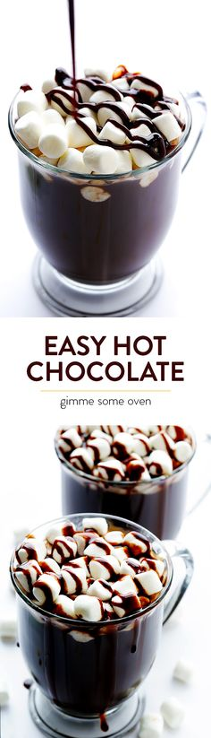 All you need are 5 easy ingredients to make delicious homemade hot chocolate from scratch   gimmesomeoven.com