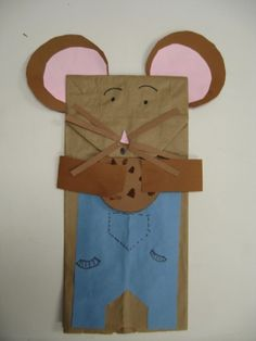 If you give a mouse a cookie paper bag puppet