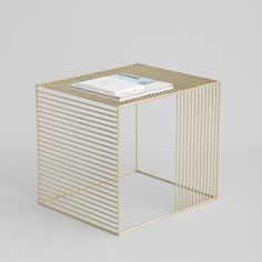 Brass / Copper Wire Side Table: