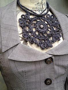 Ravelry: Sunbride's THORNFIELD (Antracit) neckpiece Crochet Projects, Hand Knitting, Ravelry, Stitch, Fashion, Moda, Hand Weaving, Full Stop, La Mode
