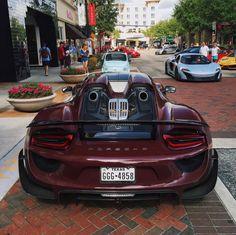 Chrome Red Porsche 918 Spyder Turns Heads On Miami Beach | Porsche on porsche macan, porsche gt, porsche spyder, porsche p1, porsche gt2, porsche hybrid, porsche supercar, porsche gt3, porsche boxster,