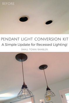 Recessed light conversion kits at lowes where were you last year goodbye recessed lights pendant conversion kit for an easy update aloadofball Choice Image