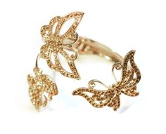 Gold Butterfly Cuff