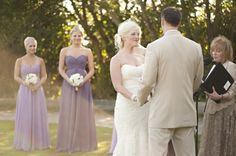 Bride and Bridesmaids in Lavender Strapless Dresses by Saleina Marie Photography   Two Bright Lights