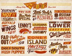UK-based kitchenware producer Joseph & Joseph commissioned us to illustrate a typographic chopping board, drawing inspiration from retro American diners and traditional sign painting.