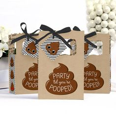Party 'Til You're Pooped Favor Boxes Personalized