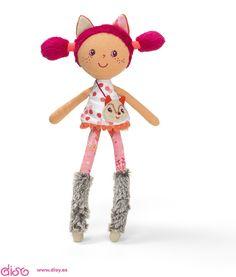 #muñecasdetrapo #muñecas Muñeca de trapo - Lilliputiens Minimuñeca Alice 86743 www.disy.es