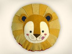 Lion Pillow by austinplush. So cute for little one's bed.