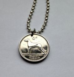 Choose Year Ireland 6 pence pingin coin pendant by acnyCOINJEWELRY