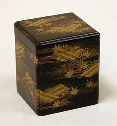 Tiered Box with Design of Maple and Raft. Edo period (1615–1868) Date: 18th century