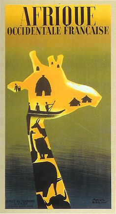 Vintage French Travel Poster/Africa