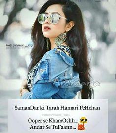 Funny Attitude Quotes, Attitude Shayari, Cute Funny Quotes, Attitude Quotes For Girls, Girl Attitude, Swag Quotes, Bff Quotes, Girly Quotes, Qoutes