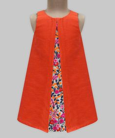 Brighten her day with this colorful dress made out of lightweight fabric. Cotton lining makes the dress soft inside and breathable for comfort on hot days.  Shipping note: This item is shipping internationally. Allow extra time for its journey to you.