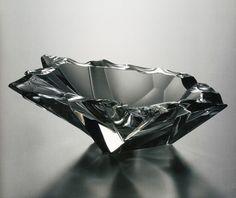 Tapio Wirkkala - Jäänsäro (Iceblock), molded & cut crystal, 230 mm diameter, Produced by Iittala Glassworks 1951-1969, Courtesy of Finnish Glass Museum