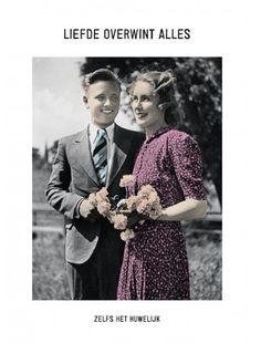 Ansichtkaart Kartoenfabriek - Liefde overwint alles - KTF1203