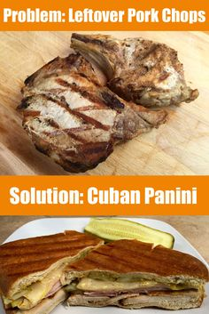 Not sure what to do with leftover pork chops? How about making a Cuban Panini?