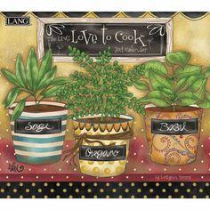 Love To Cook 2014 Wall Calendar #LANG #2014