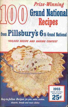 Vintage 1955 Cookbook Pillsbury's Prize Winning 6th Grand National Recipes