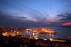 Vigo de noche desde A Guía.
