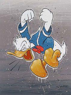 Donald Duck - All Quacked Up - Original - Trevor Carlton - World-Wide-Art.com