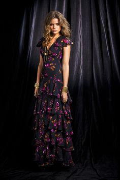pretty maxi dress, love the sleeves and the print