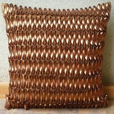 Luxury Metallic Rust Pillows Cover 16x16 Faux by TheHomeCentric