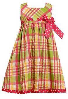 Bonnie Jean® Seersucker Pull Through Dress Girls 4-6X