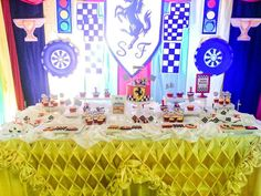 Ferrari theme dessert table