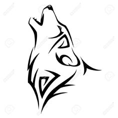Howl Wolf Tattoo Tribal Design Illustration Royalty Free Cliparts ...
