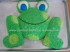 Frog Cut-Up Cake  Will make this for my mom's 84th birthday.  She loves frogs!
