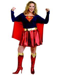 Supergirl Adult Plus Costume