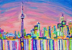 Toronto Skyline - By Morgan Ralston, 2013.