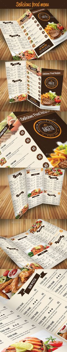 Restaurant \/ Cafe Take-out Menu Template - sample cafe menu template