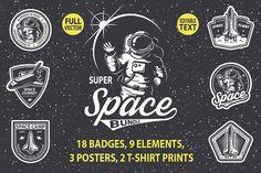 Super space bundle by VectorPot on @creativemarket