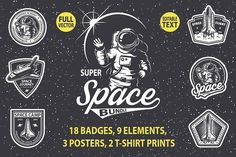 Super space bundle by VectorPot on @creativemarket