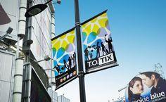 Downtown Yonge BIA street light banner signage detail