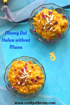 Moong Dal Halwa without mawa is a Rajasthani traditional sweet recipe made using Moong lentils, ghee, milk and sugar. Flavoured using cardamom and loaded with dry fruits, it is a rich and addictive Halwa made using festivals like Diwali, Holi or during Marriages and Parties. Indian Desserts, Indian Food Recipes, Holi Recipes, Vegetarian Sweets, Delicious Desserts, Dessert Recipes, Condensed Milk Recipes, Food Festival, Recipe Collection