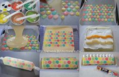 dotted roll cake